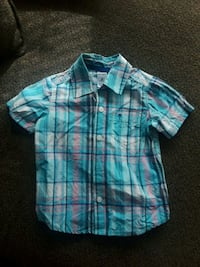 blue and white plaid button-up shirt Rockledge
