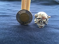 Custom made nickel-free pirate skull ring New Westminster, V3M 3R7