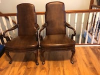 two brown wooden framed armchairs Bridgeton, 63044