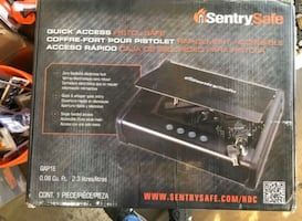 SentrySafe Single Gun Capacity Pistol Safe, Quick Access Gun Safe