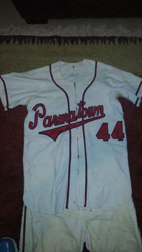 Photo Rare 1955 game used cleveland Indians farm team