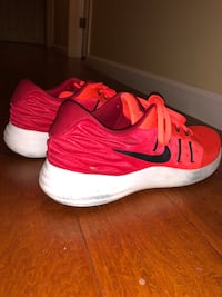 Pair of red nike running shoes Greenbrae, 94904