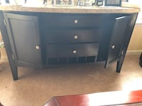 Black wooden tv stand with cabinet Leesburg, 20176