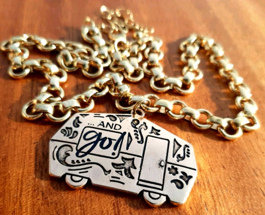 Photo And Go! Camper Pendant Necklace