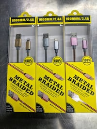 Metal Braided Phone Chargers - BRAND NEW ($15) Calgary