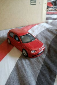 red and black coupe die-cast model San Diego, 92101