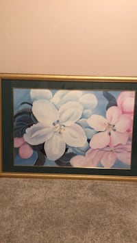 Pink/white framed & matted picture Kenner, 70065