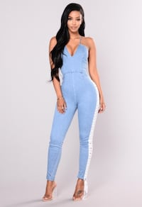 Fashion Nova Denim Lace Up Jumpsuit Nashville, 37027