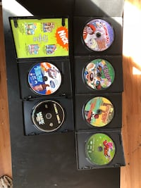 six assorted Xbox 360 game discs null
