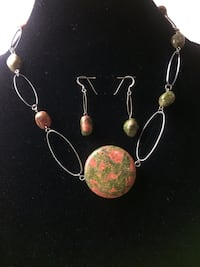 Necklace and earrings sets $10.00 each  London, N6B