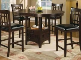 Oval counter dining set