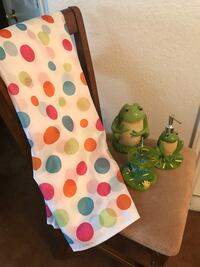 Frog Bathroom Set with Shower curtain  Killeen, 76549