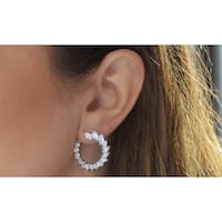 18K White Gold Plated Earrings Made with Swarovski Elements Toronto
