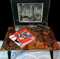 Reclaimed Wood End Table 288 mi