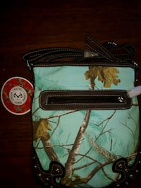 black and green  leather crossbody bag Chatham-Kent