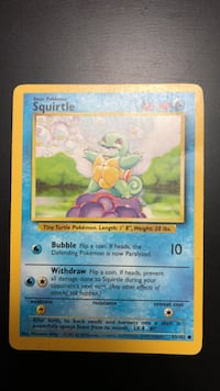 Squirtle Base Set 63/102 Pokémon Card  Oakville, L6H 5N3
