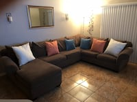 black fabric sectional sofa with throw pillows Kissimmee, 34743