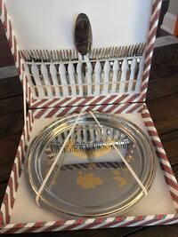 50th anniversary stainless steel tray and fork Kitchener, N2H 1V1