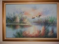 brown wooden framed painting of river Fort Myers, 33967