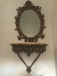 Marble top and matching mirror from pet and smoke free house  Gatineau, J9J 0C8