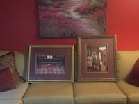 two brown wooden framed paintings Fort Bragg, 28307