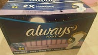 Brand new always maxi pads Baltimore