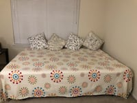 Queen size Bed Frame and 8' Memory Foam Mattress