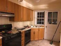 Solid oak cabinets with appliances Ellicott City, 21043