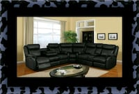 Cshape sectional black bonded leather Alexandria, 22306