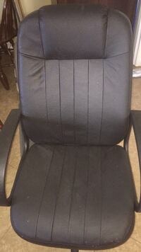 Black leather like padded rolling armchair Cape Coral, 33914