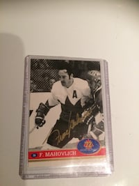 1991-92 Frank Mahovlich Signed Card Hockey Card Autographed Toronto, M5H