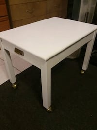 White end table on wheels Missouri City, 77489
