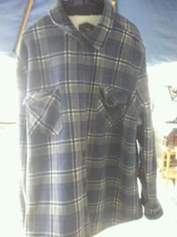 blue, white, and gray plaid button-up sport shirt San Diego, 92113