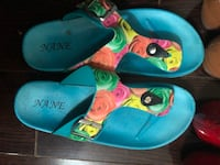 Pair of blue-and-green rubber clogs Brampton, L6X 4K8