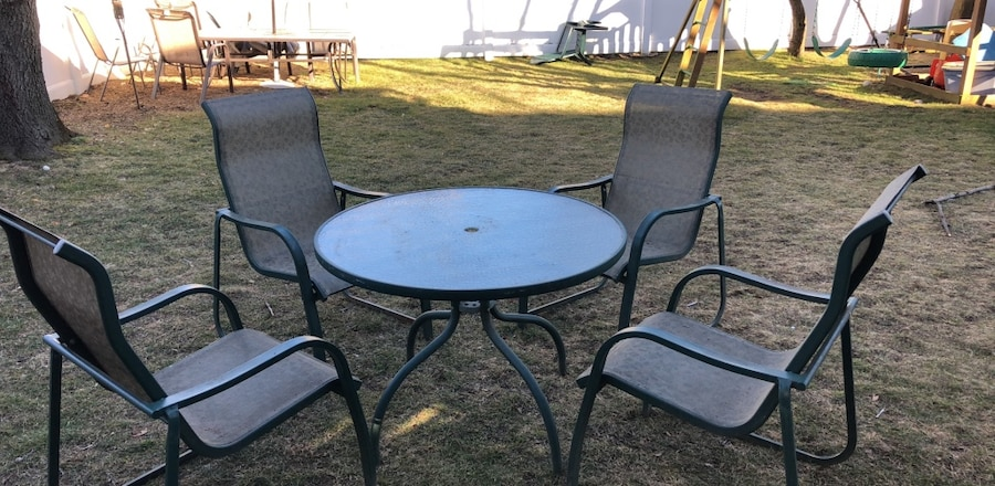 used outdoor table and 4 chairs for sale in oceanside letgo rh gb letgo com