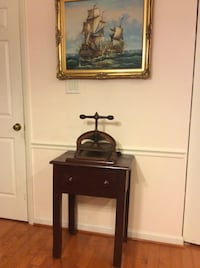 ANTIQUE CAST IRON BOOK BINDING PRESS WITH TABLE Derwood, 20855