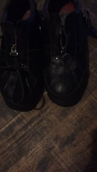 Pair of black leather polo boots size 8.5 San Antonio, 78237