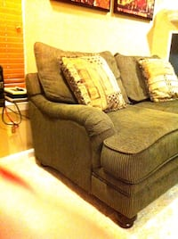 Big Comfy green corduroy love-seat Great Falls, 22066