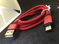 Red Rapid Charger Micro usb Cable