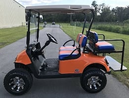 EXCELLENT CONDITION!!=*=!! ORANGE COLORS GOLF CART.....................