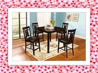 Counter Height Dining Table New with Chairs high Quality Silver Spring, 20906