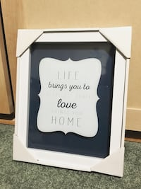 Glass frame with Quote Markham