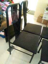 black metal chairs 40 for all 4 Toronto, M4L 3B4