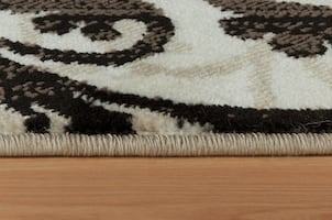 8x11 Cream Area rug Blue Brown rug medallion Modern