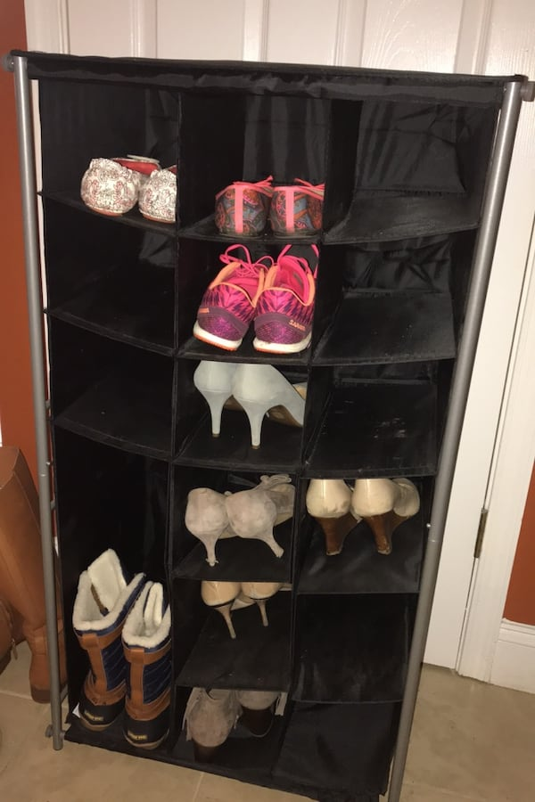 Shoe rack - hold 16 pairs 1