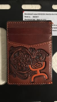 Brown leather bi-fold wallet Lubbock, 79416