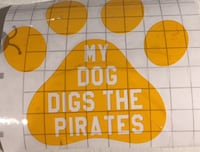 My dog/dogs dig the pirates Pittsburgh, 15235