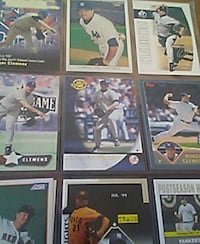 nine baseball player trading card collection Lancaster, 93536