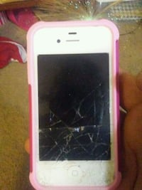 white iPhone 5 with pink case French Lick, 47432