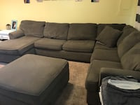 Ashley sectional couch with storage ottoman Middle River